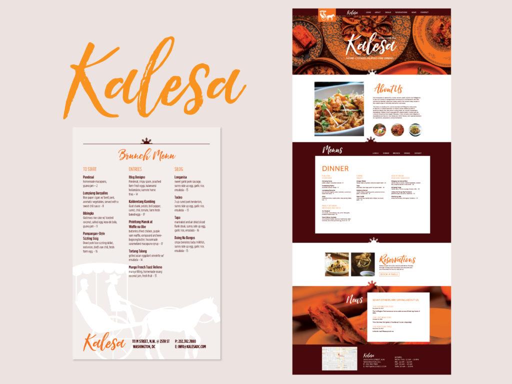 Kalesa Filipino Cuisine Brand Identity