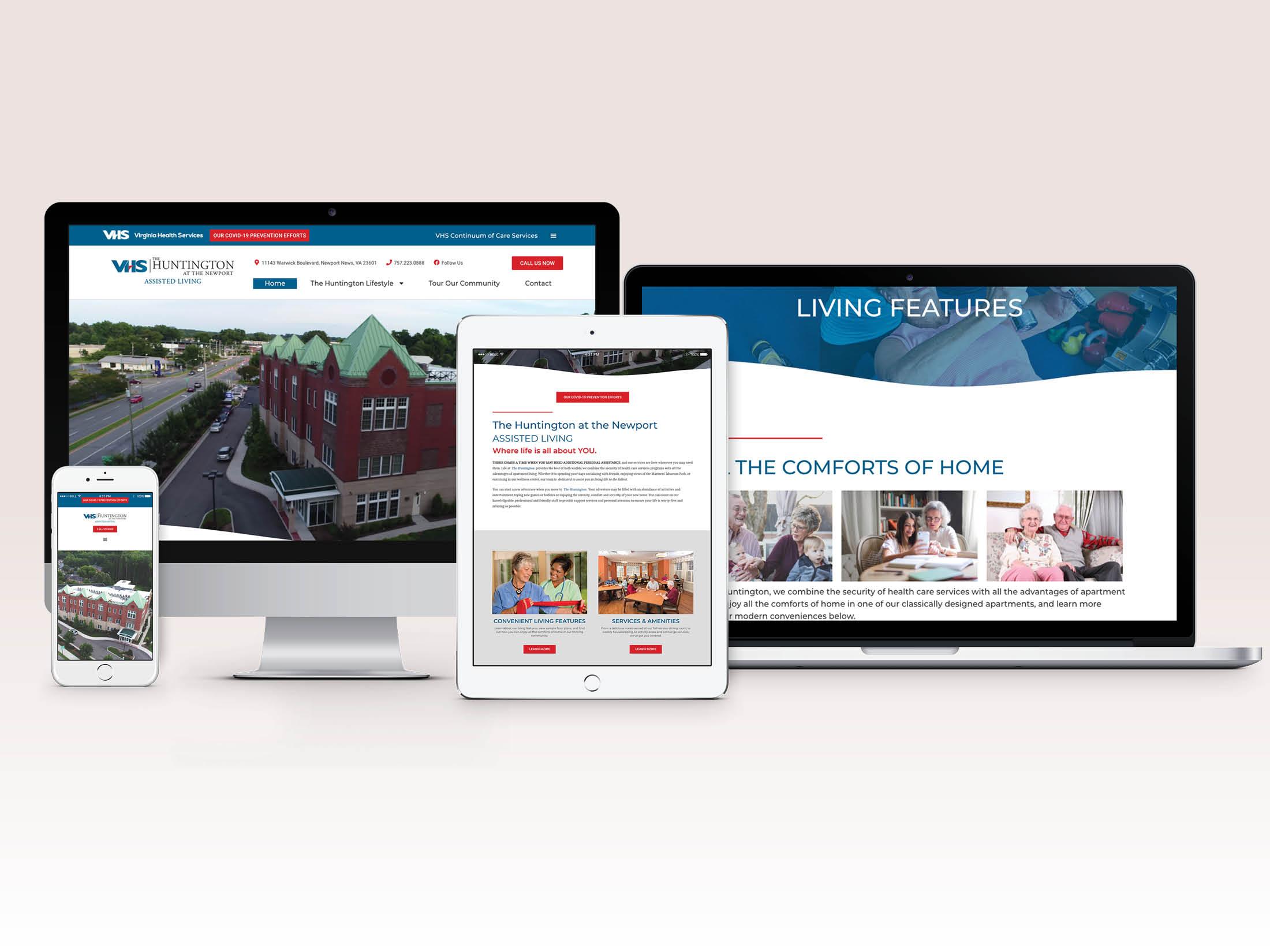 The Huntington Senior Living Website