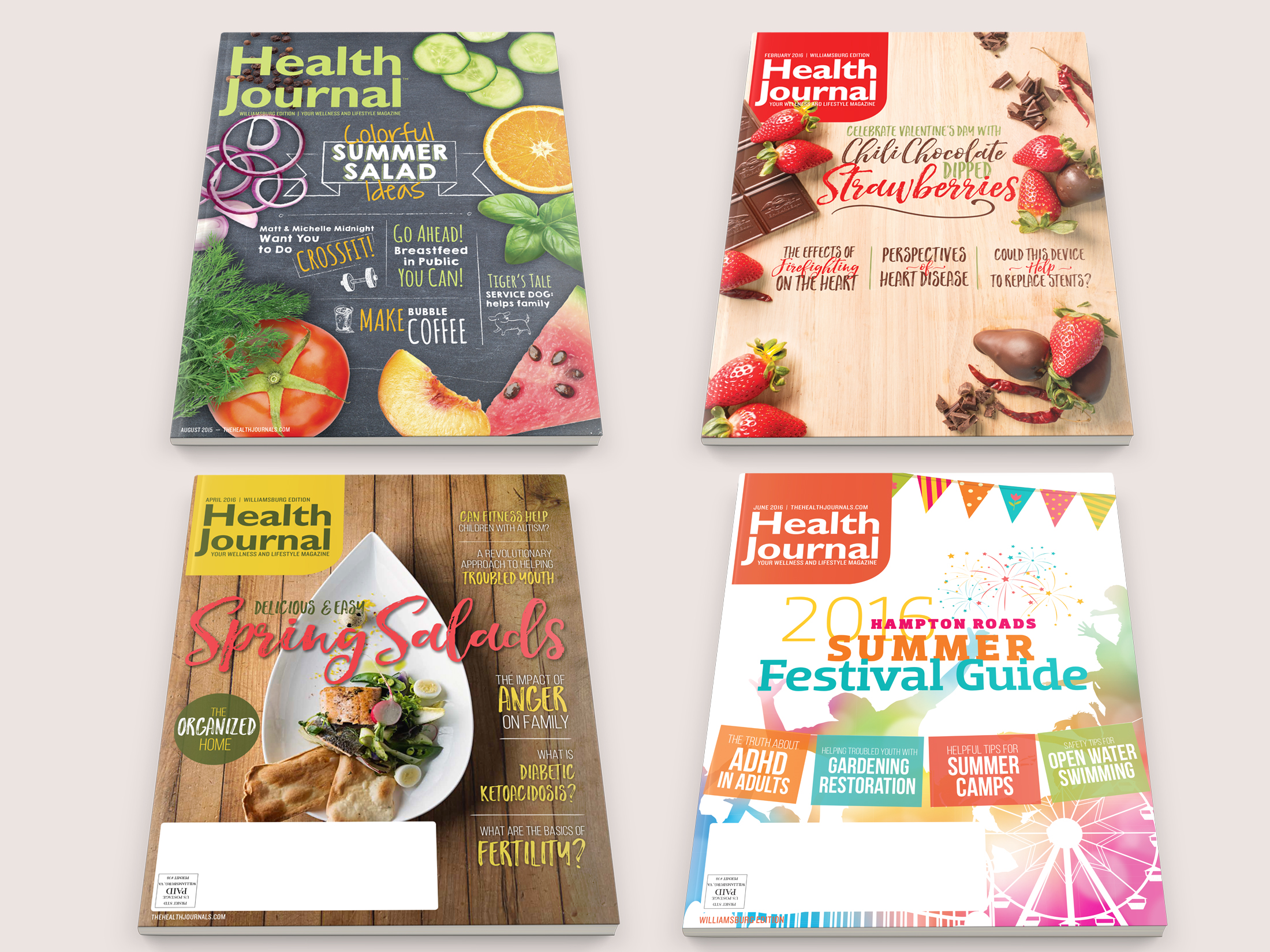 The Health Journal Cover Designs
