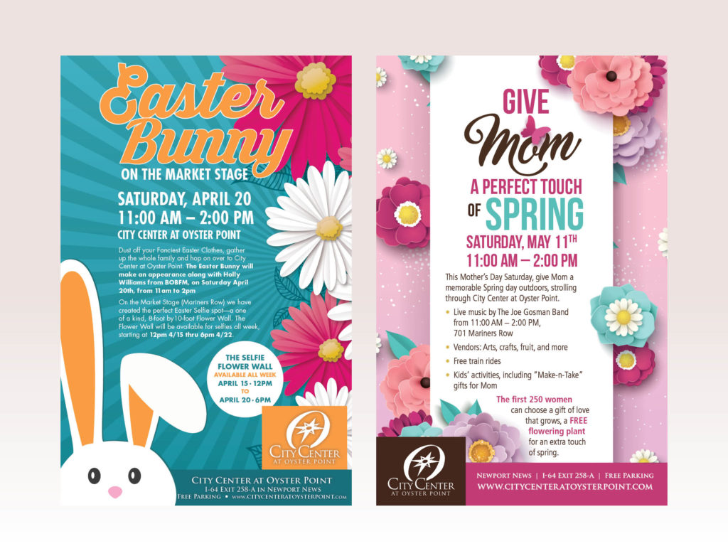 Event Posters for City Center at Oyster Point